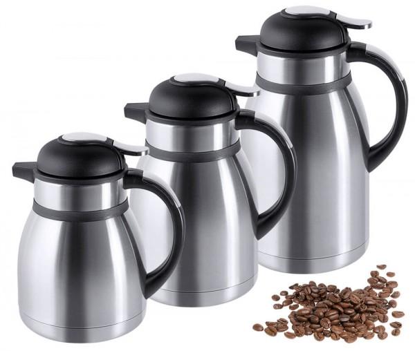 Contacto 5161/120 - Isolierkanne Kaffeekanne Teekanne Edelstahl 1,2 Liter