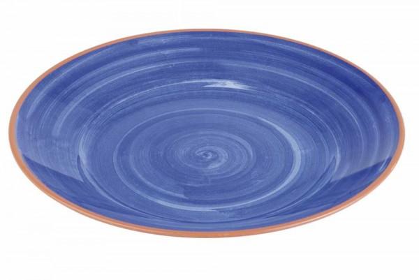 """Melamin Teller """"LA VIDA"""" 32cm blau"""
