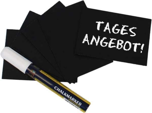 Contacto 7666/008 - Schreibtafel schwarz DIN A8 20-er Set incl. Stift