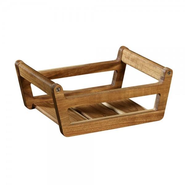 Saucenboot Tablett Holztablett