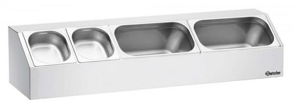 Bartscher 465156 - Aufsatzbord, 3x1/3GN, T150
