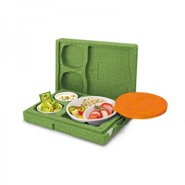 Dinner Max Set Isolierbox Thermobox mit Porzellangeschirr Mondo Basic