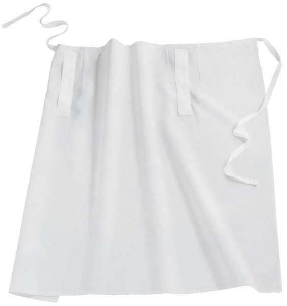 Contacto 6552/104 - Schürze mit Taschendurchgriff, weiß, 100 x 100 cm