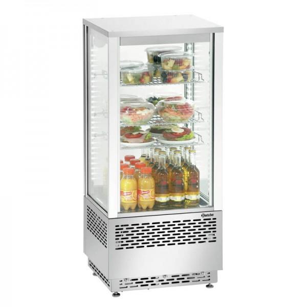 Bartscher 700478G - Mini Kühlvitrine 78 Liter Edelstahl - Rückansicht