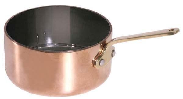 Contacto 8770/090 - Stielkasserolle 9 cm flach aus Kupfer/Edelstahl