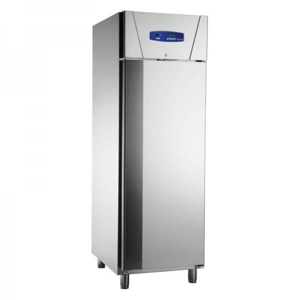 KBS 110744 - Edelstahl Gewerbekühlschrank für GN 2/1 -Tür zu