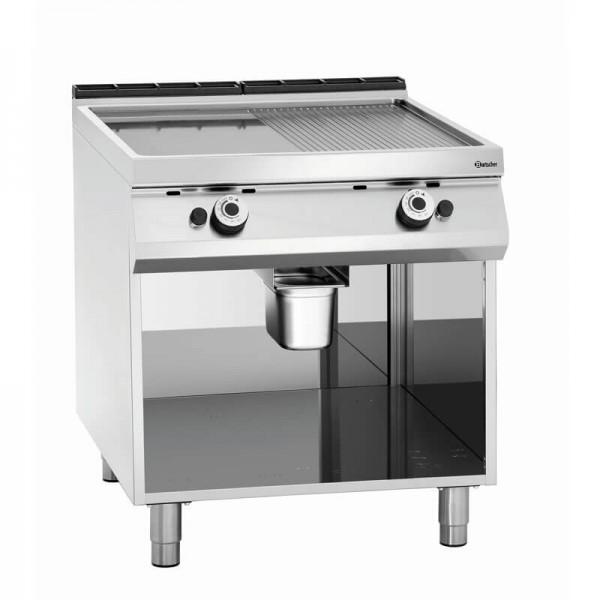 Bartscher 2955061 - Gas Griddleplatte 1/2 + 1/2 mit offenem Unterbau Serie 900 Master