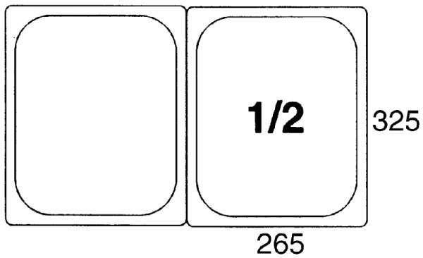 Contacto 5512/200 - GN-Behälter 1/2, 200mm Polypropylen