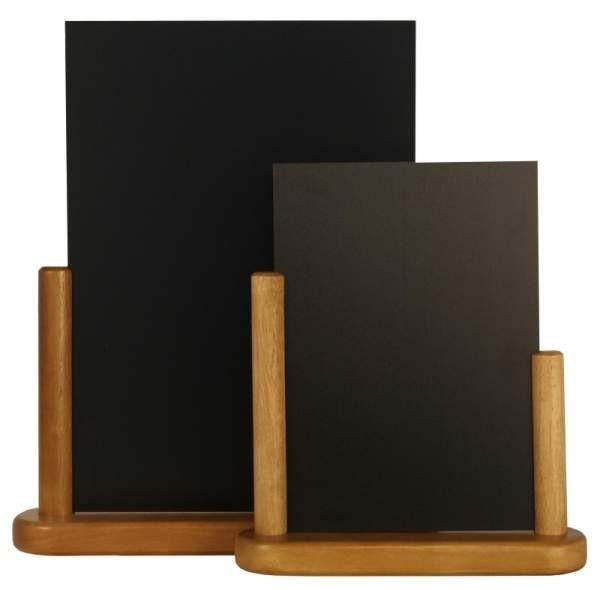 Contacto Tischtafel und Halterung 15x21 cm, schwarz