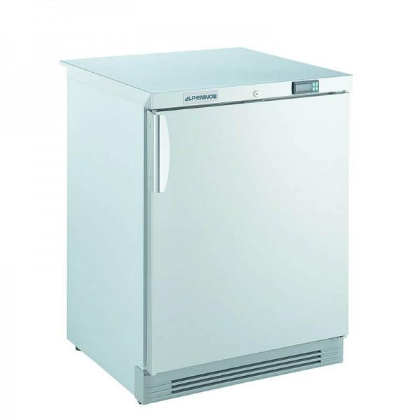 NordCap 402729010 - Gewerbetiefkühlschrank TK 160 CHR Alpeninox mit statischer Kühlung und CHR-Volltür, unter- und einbaufähig, Mini Tiefkühlschrank