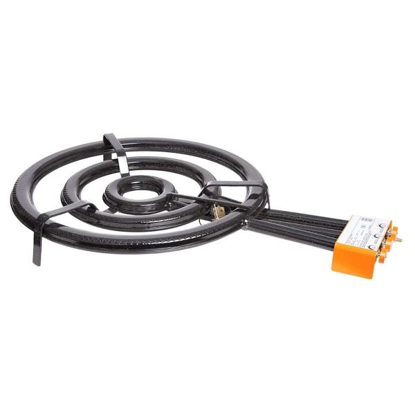 3-Ring-Gasbrenner, Ø 60 cm, 27,4 kW, mit Zündsicherung - 1605