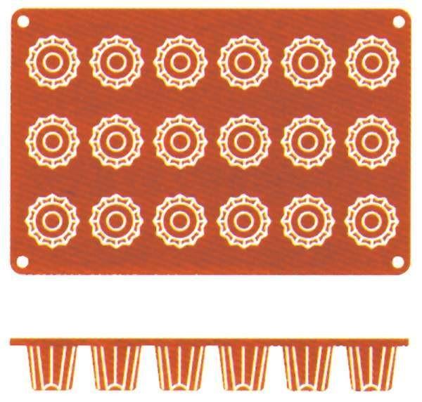 Contacto 6639/058 - Silikon-Backmatte Bordelaise, 5 cm