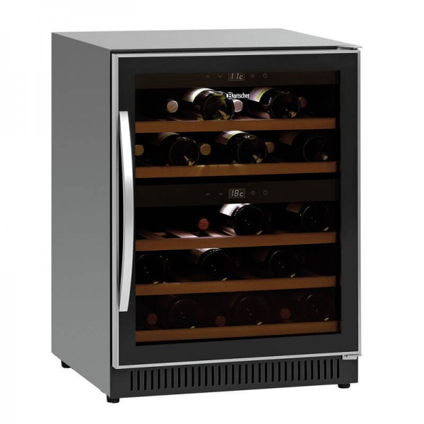 Bartscher 700133 - Weinkühlschrank 2Z 40 Flaschen - mit Inhalt