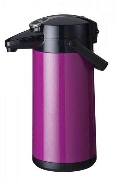 Airpot Furento mit Edelstahlzylinder, Metallmantel, Violett-Metallic - 2,2 Liter Kaffeekanne Pumpkan