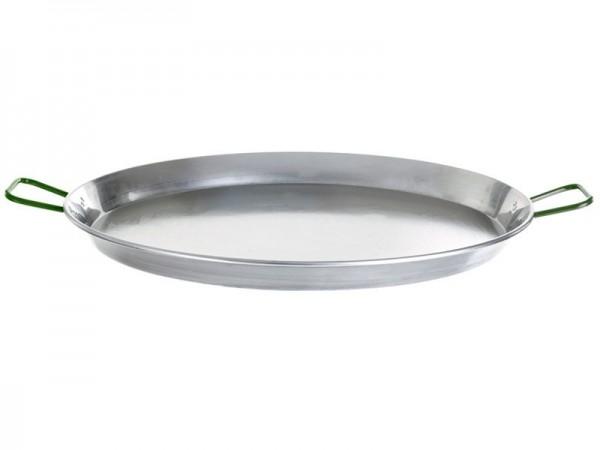Paella-Pfanne Stahl poliert Ø 130 cm mit 6 Griffen