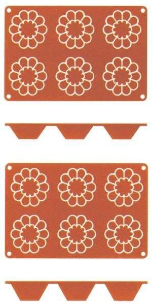Contacto 6638/863 - Silikon-Backmatte Briochette, 8 cm, hoch 3 cm