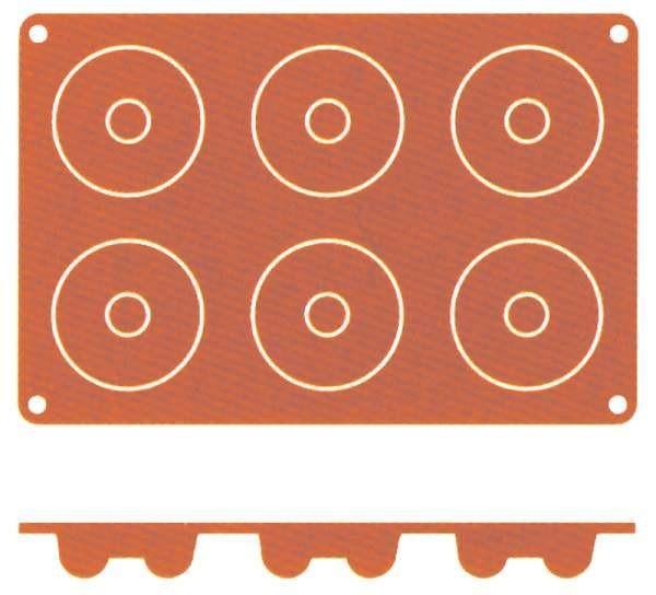 Contacto 6631/726 - Silikon-Backmatte Savarin, 7 cm