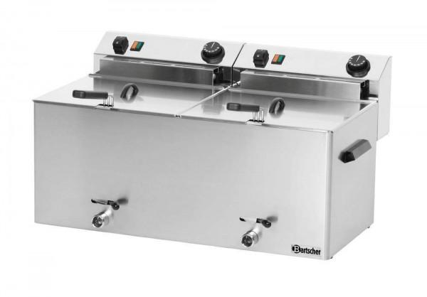 Bartscher 162910 - Fritteuse Doppelfritteuse Professional II 2 x 10 Liter