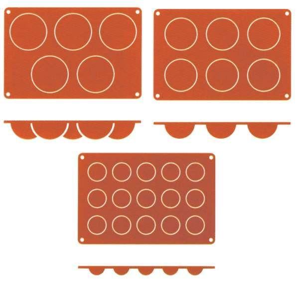 Contacto 6630/415 - Silikon-Backmatte Halbkugel, 4 cm