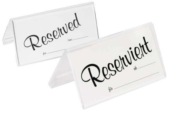 Contacto 6783/944 - Einschubkarten engl.: Reserved 25 St. doppelt für Aufsteller