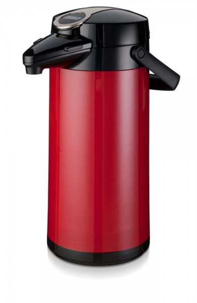 Airpot Furento mit Glaseinsatz Rot - 2,2 Liter