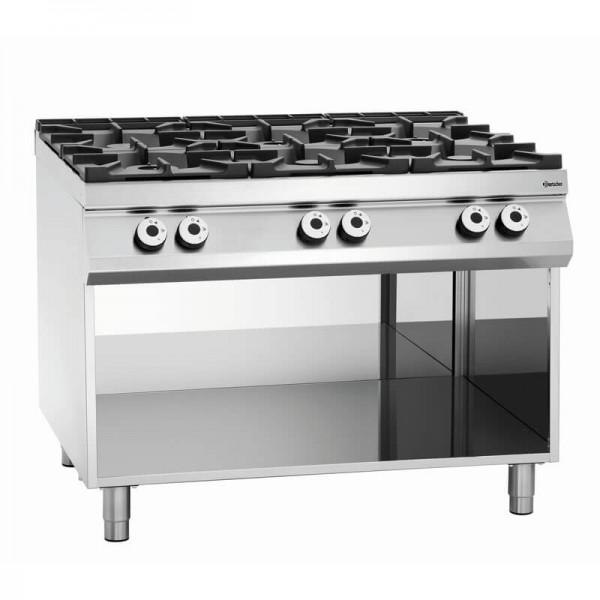 Bartscher 2951121 - 6 Flammen Gasherd Serie 900 Master