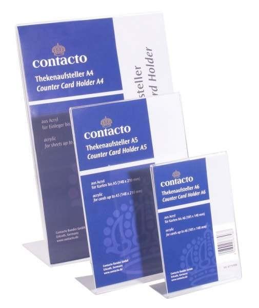 Contacto 6779/006 - Thekenaufsteller DIN A6 Acryl