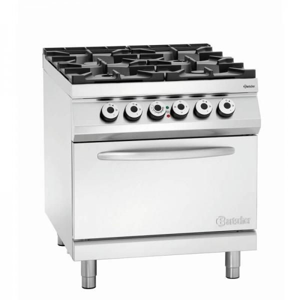 Bartscher 2952271 - 4 Flammen Gasherd EBO 2/1GN Serie 900 Master
