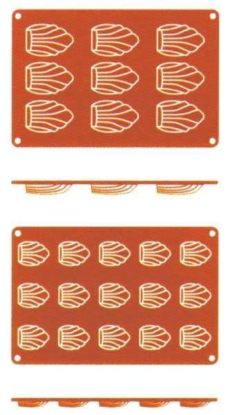 Contacto 6637/415 - Silikon-Backmatte Madeleine, 4 cm