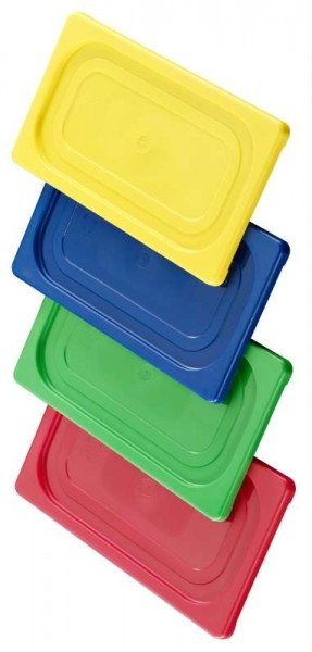Contacto 5525/199 - GN-Deckel 1/9, rot aus Polypropylen für Serie 5511