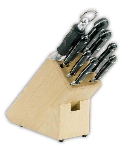 Giesser 9892-b - Messerblock, Buche lackiert, 8-teilig bestückt