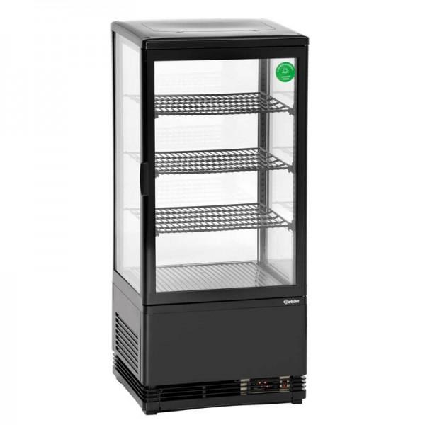 Bartscher 700277G - Mini-Kühlvitrine 78L schwarz