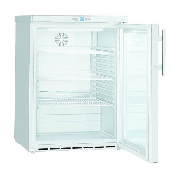 NordCap 405216501 - Umluft Gewerbekühlschrank UKU 165 W-G mit Glastür unterbaufähig, Mini Kühlschrank