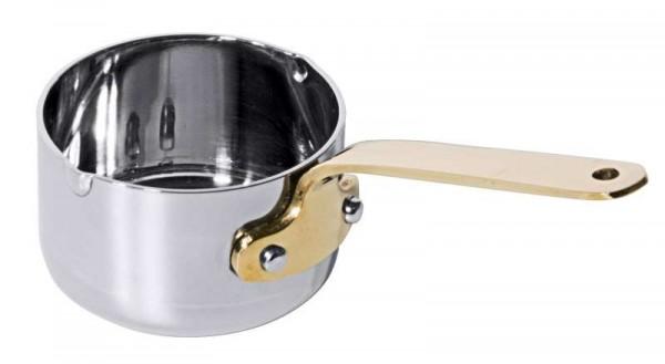 Contacto 3390/090 - Stielkasserolle 0,25 L - Edelstahl mit Messinggriff