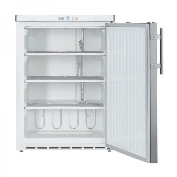 NordCap 405314010 - Gewerbetiefkühlschrank TK 140 I mit statischer Kühlung und Volltür in CHR, unterbaufähig, Mini Tiefkühlschrank