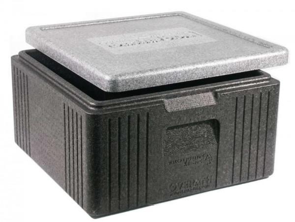 Contacto 6818/400 - Thermobox grau/schwarz 21 l außen 40x40x22 cm