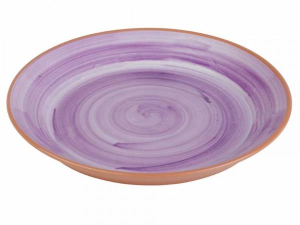 """Melamin Teller """"LA VIDA"""" 40,5cm violett"""