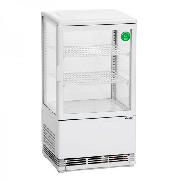 Bartscher 700258G - Mini Kühlvitrine 58L weiß