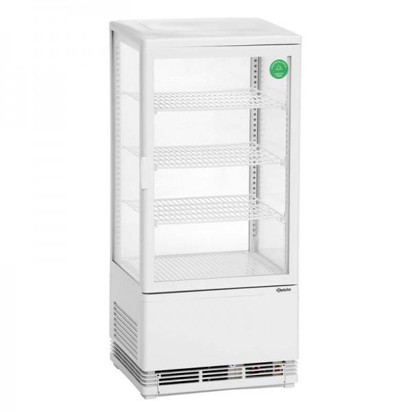 Bartscher 700578G - Mini Kühlvitrine 78L weiß