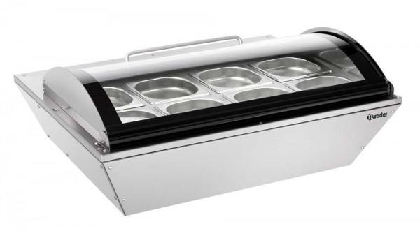 Bartscher 700211G - Kühlauslagevitrine 67L mit 8 x 1/6