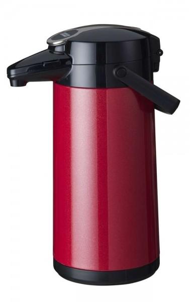 Airpot Furento mit Edelstahlzylinder, Metallmantel, Rot-Metallic - 2,2 Liter Kaffeekanne Pumpkanne