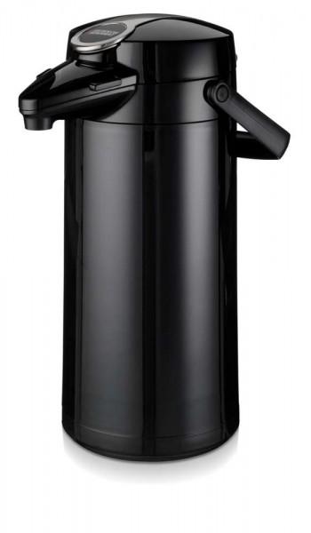 Airpot Furento mit Glaseinsatz Schwarz - 2,2 Liter
