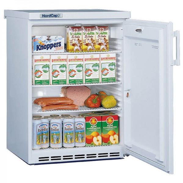NordCap 405218000 - Gewerbekühlschrank UKU 180 W mit Umluftkühlung und Volltür in weiß, Mini Kühlschrank