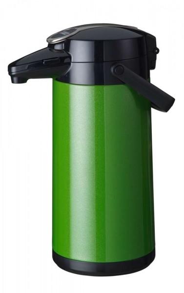 Airpot Furento mit Edelstahlzylinder, Metallmantel, Grün-Metallic - 2,2 Liter Kaffeekanne Pumpkanne
