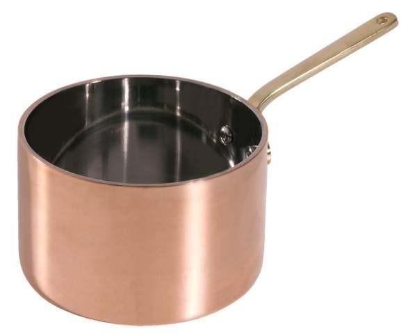 Contacto 8771/090 - Stielkasserolle 9 cm, tief aus Kupfer/Edelstahl