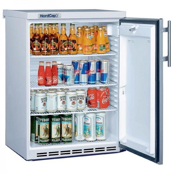 NordCap 405218010 - Gewerbekühlschrank UKU 185 I mit Umluftkühlung und Volltür in CHR, Mini Kühlschrank