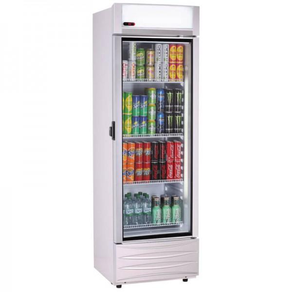KBS 9150476 - Getränke Glastürkühlschrank 466 GDU New Design mit Inhalt