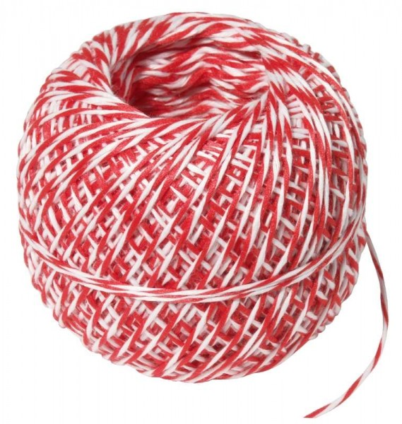 Contacto Wurstgarn weiss/weiss/rot 100m Polyester