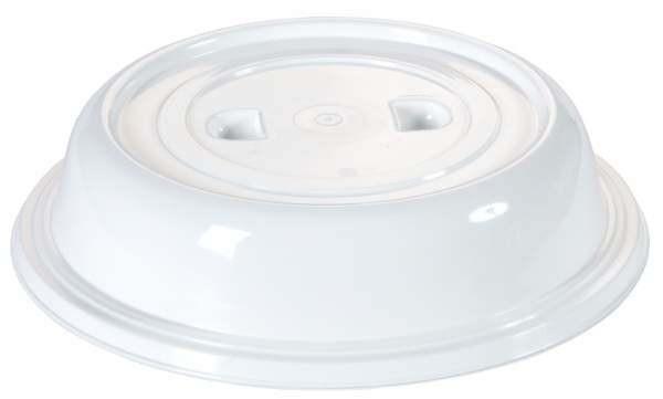 Contacto 6446/253 - Tellerglocke 25,3 cm weiß ohne Griffloch, mit zwei Griffmulden