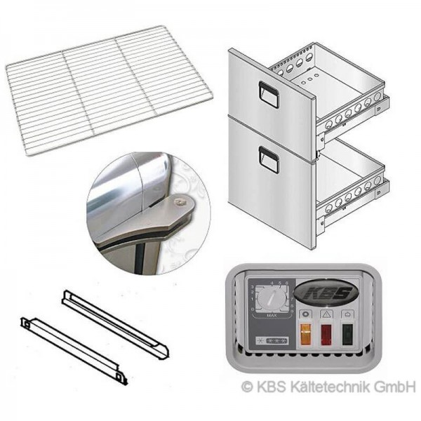 KBS 809394 -  Wandkühlregal BALI Pro Rollensatz